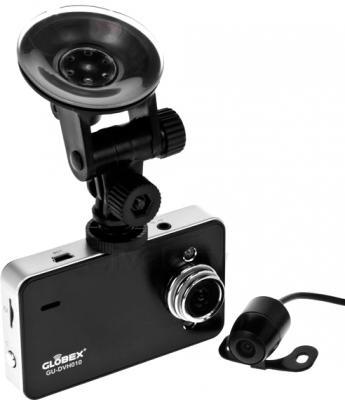 Автомобильный видеорегистратор Globex GU-DVH010 - основная и дополнительная камеры