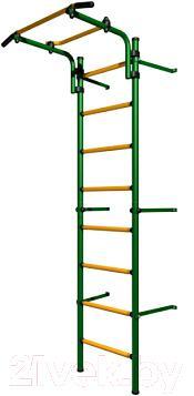 Детский спортивный комплекс Romana Комета Next Light ДСКМ-2С-8.06.Г1.490.11-01 (зеленый/желтый) - общий вид