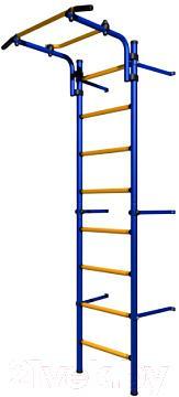 Детский спортивный комплекс Romana Комета Next Light ДСКМ-2С-8.06.Г1.490.11-01 (синий/желтый) - общий вид