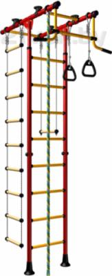 Детский спортивный комплекс Romana Комета-1 ДСКМ-2-8.06.Т.490.01-08 (красный/желтый) - общий вид