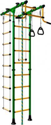 Детский спортивный комплекс Romana Комета-1 ДСКМ-2-8.06.Т.490.01-08 (зеленый/желтый) - общий вид