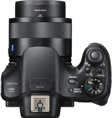 Компактный фотоаппарат Sony Cyber-shot DSC-HX400B - вид сверху