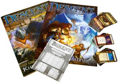 Настольная игра Мир Хобби Descent. Странствия во Тьме (вторая редакция) - комплект игры