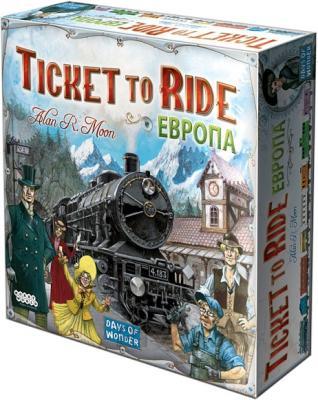 Настольная игра Мир Хобби Билет на поезд: Европа / Ticket to Ride: Европа 1032 (3-е русское издание) - коробка