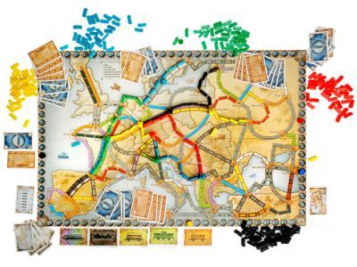 Настольная игра Мир Хобби Билет на поезд: Европа / Ticket to Ride: Европа 1032 (3-е русское издание) - комплект игры