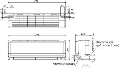 Сплит-система Mitsubishi Heavy Industries SRC50MA-S - схема внутреннего блока