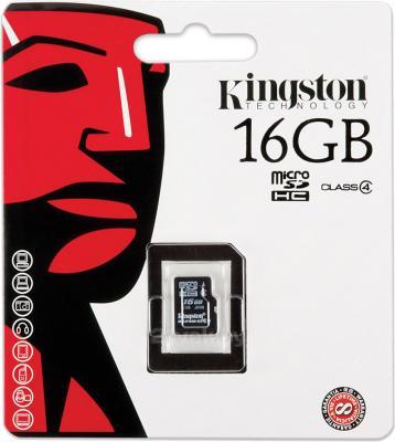 Карта памяти Kingston microSDHC (Class 10) 16GB (SDC10/16GBSP) - общий вид