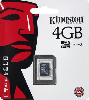 Карта памяти Kingston microSDHC 4 Gb (SDC4/4GBSP) - общий вид