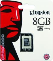 Карта памяти Kingston microSDHC (Class 4) 8GB (SDC4/8GBSP) -