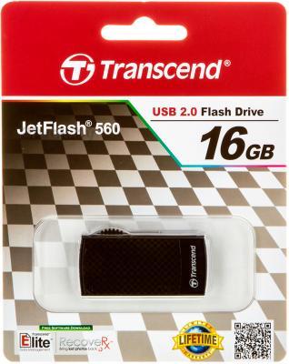 Usb flash накопитель Transcend JetFlash 560 16GB (TS16GJF560) - в упаковке