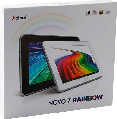 Планшет Ainol Novo 7 Rainbow (Black) - коробка