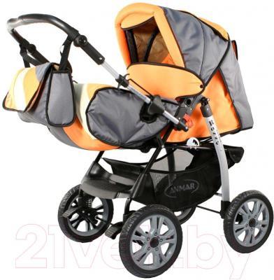 Детская универсальная коляска Anmar Rosse Golden (Orange) - общий вид