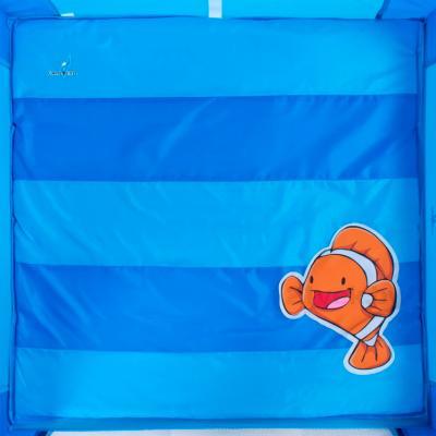 Игровой манеж Caretero Quadra (Blue) - рисунок на матрасе