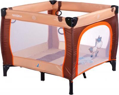 Игровой манеж Caretero Quadra (Brown) - общий вид