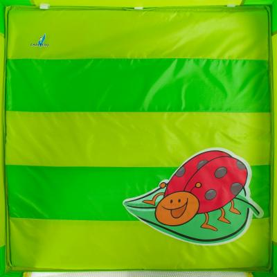 Игровой манеж Caretero Quadra (Green) - рисунок на матрасе