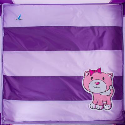 Игровой манеж Caretero Quadra (Purple) - рисунок на матрасе