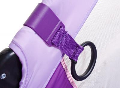 Игровой манеж Caretero Quadra (Purple) - ручка, помогающая малышу встать