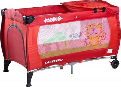 Кровать-манеж Caretero Medio Safari (Red) - общий вид