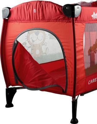 Кровать-манеж Caretero Medio Safari (Red) - боковой лаз
