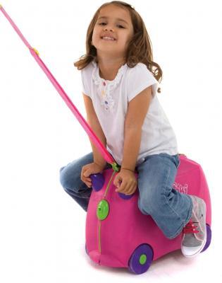 Детский чемодан Trunki 0061-GB01-P1 - верхом на чемодане