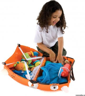 Детский чемодан Trunki Тигр (0085-WL01-P1) - в разложенном виде
