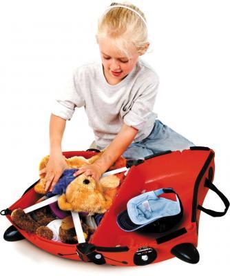 Детский чемодан Trunki Божья коровка (0092-GB01-P1) - в разложенном виде