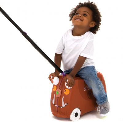 Детский чемодан Trunki Граффало (0108-GB01) - верхом на чемодане