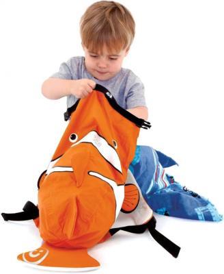 Водонепроницаемый рюкзак Trunki Рыба-Клоун (0112-GB01) - ребенок с рюкзаком
