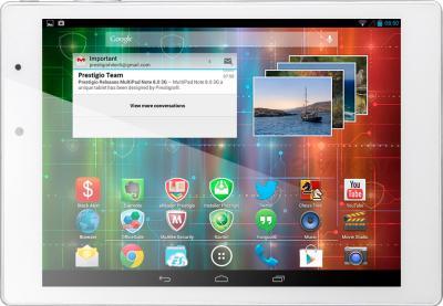 Планшет Prestigio MultiPad 4 Diamond 7.85 16GB 3G (PMP7079D3G_WH_QUAD) - фронтальный вид