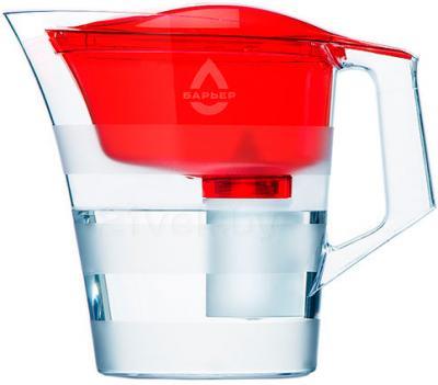 Фильтр питьевой воды БАРЬЕР Твист (красный) - общий вид