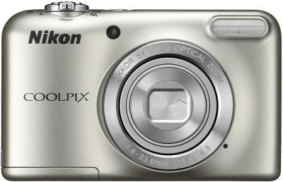 Компактный фотоаппарат Nikon Coolpix L29 (Silver) - вид спереди