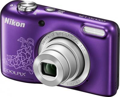 Компактный фотоаппарат Nikon Coolpix L29 (Purple Patterned) - общий вид