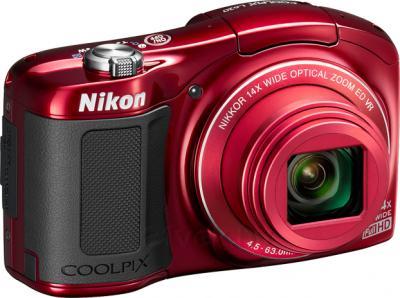 Компактный фотоаппарат Nikon Coolpix L620 (Red) - общий вид