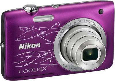 Компактный фотоаппарат Nikon Coolpix S2800 (Purple Patterned) - общий вид