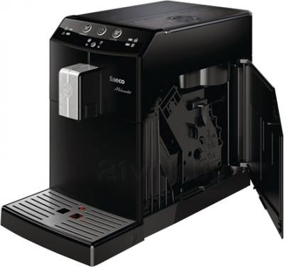 Кофеварка эспрессо Saeco Minuto Pure (HD8760/09) - с открытой боковой крышкой