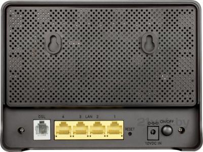 Беспроводной маршрутизатор D-Link DSL-2640U/RA/U1A - вид сзади