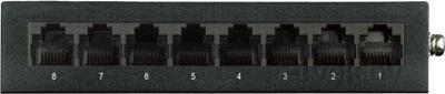 Коммутатор D-Link DGS-1008D/I2A - вид сзади