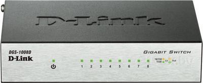 Коммутатор D-Link DGS-1008D/I2A - общий вид