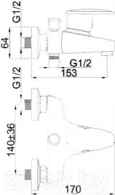 Смеситель Rubineta Style-10 - схема