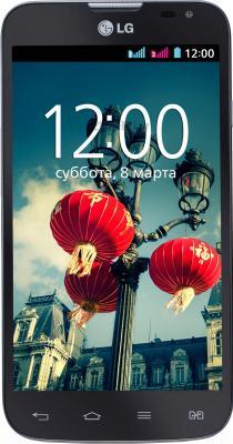 Смартфон LG L70 / D325 (черный) - общий вид