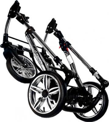 Детская универсальная коляска Bexa Fashion Roxy White (201) - в сложенном виде