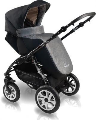 Детская универсальная коляска Bexa Fashion Roxy White (205) - чехол для ног (цвет 210 черная рама)
