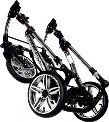 Детская универсальная коляска Bexa Fashion Roxy Chrome (208) - в сложенном виде