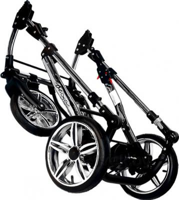 Детская универсальная коляска Bexa Fashion Roxy Black (205) - в сложенном виде