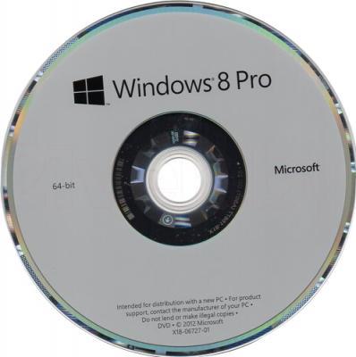 Операционная система Microsoft Windows Pro 8 64Bit Eng Intl 1pk DSP (FQC-05955) - диск