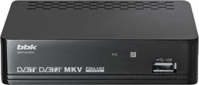 Тюнер цифрового телевидения BBK SMP124HDT2 (темно-серый) - общий вид