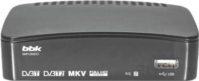 Тюнер цифрового телевидения BBK SMP125HDT2 (темно-серый) - общий вид