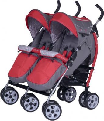 Детская прогулочная коляска EasyGo Duo Comfort (Red) - общий вид
