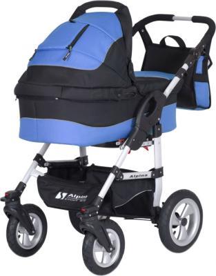 Детская универсальная коляска Riko Alpina (Neon blue) - общий вид