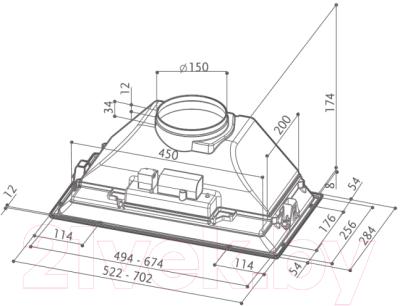 Вытяжка скрытая Faber Inca Smart HCS X A52